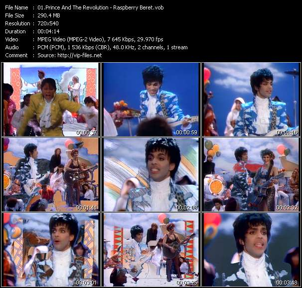 Screenshot of Music Video Prince And The Revolution - Raspberry Beret