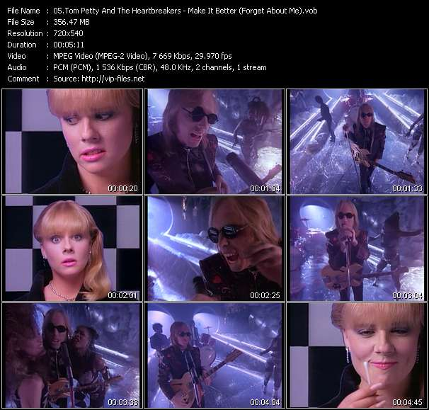 Screenshot of Music Video Tom Petty And The Heartbreakers - Make It Better (Forget About Me)