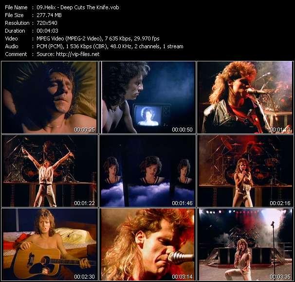 Screenshot of Music Video Helix - Deep Cuts The Knife