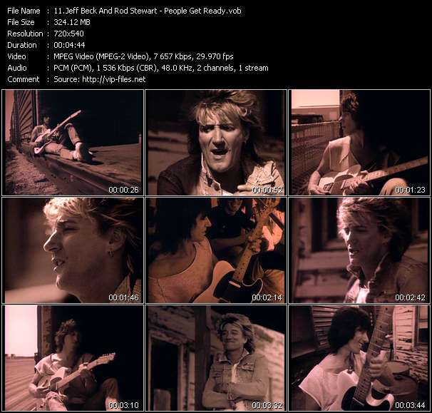 Screenshot of Music Video Jeff Beck And Rod Stewart - People Get Ready