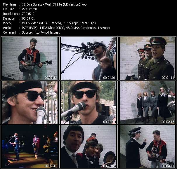 Screenshot of Music Video Dire Straits - Walk Of Life (UK Version)