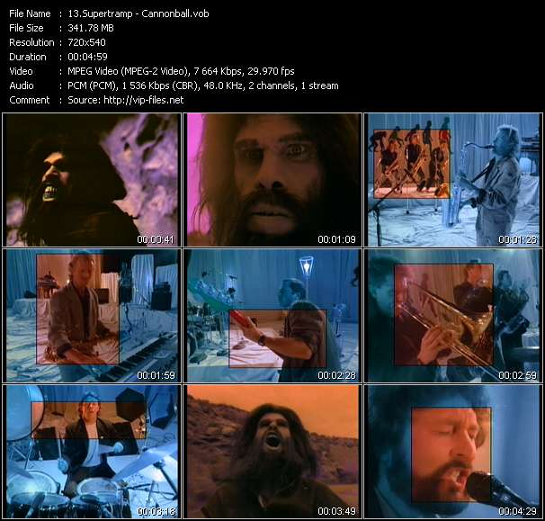 Screenshot of Music Video Supertramp - Cannonball