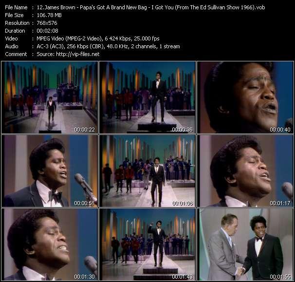James Brown video vob