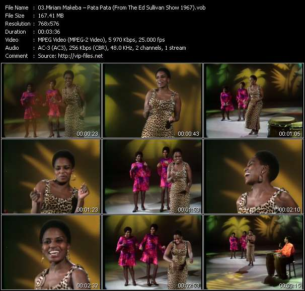 Miriam Makeba video vob