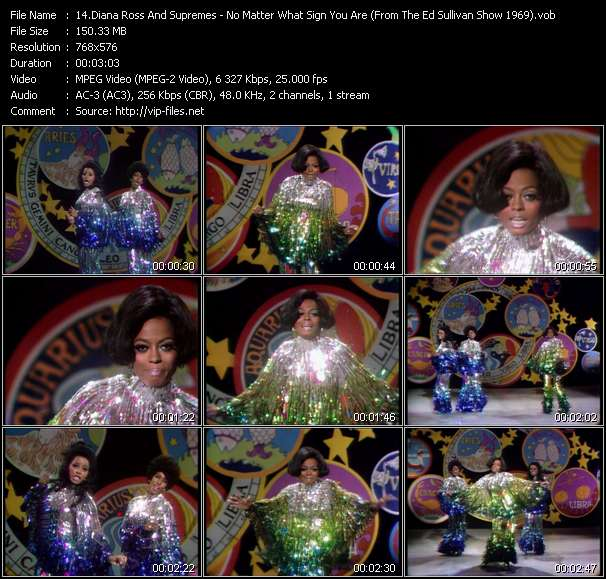 Diana Ross And Supremes video vob