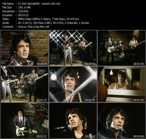 Rick Springfield video vob