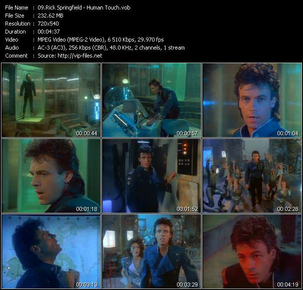 Screenshot of Music Video Rick Springfield - Human Touch