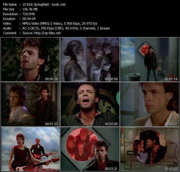 Screenshot of Music Video Rick Springfield - Souls