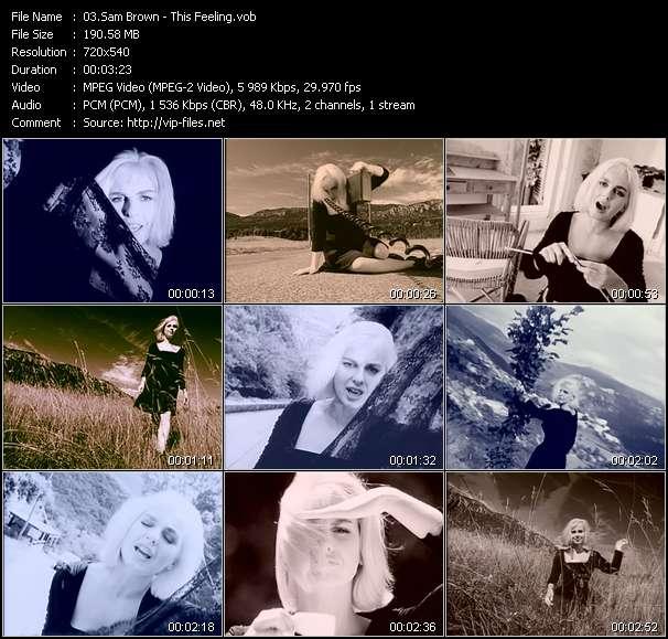 Screenshot of Music Video Sam Brown - This Feeling