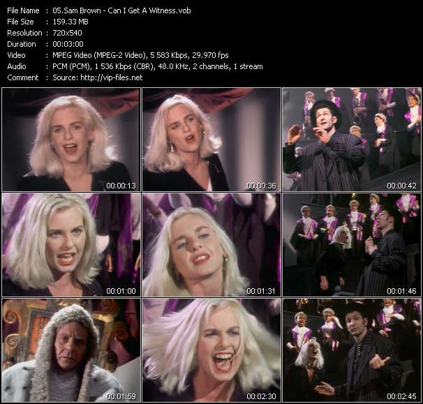 Screenshot of Music Video Sam Brown - Can I Get A Witness