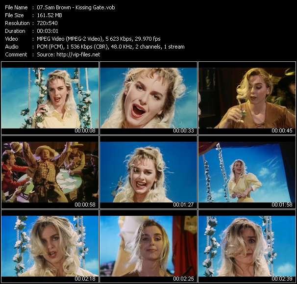 Screenshot of Music Video Sam Brown - Kissing Gate