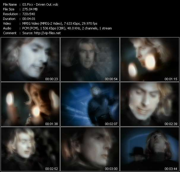 Screenshot of Music Video Fixx - Driven Out