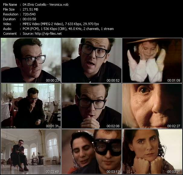 Screenshot of Music Video Elvis Costello - Veronica
