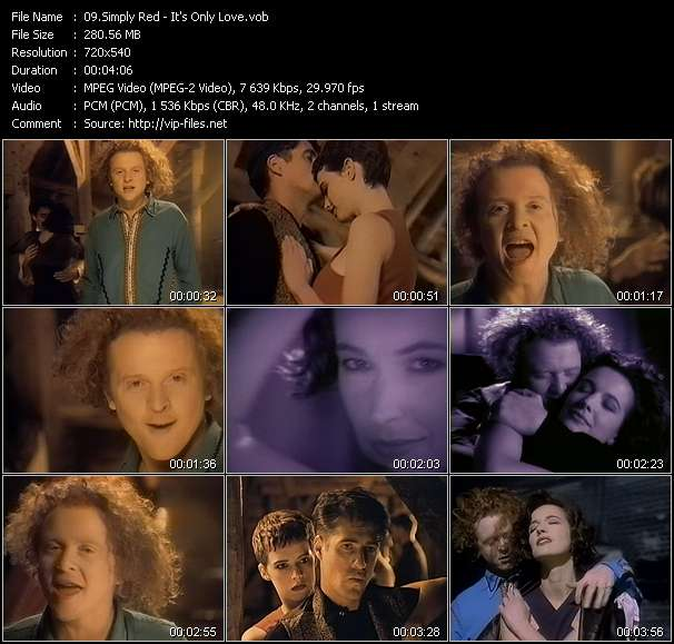 Screenshot of Music Video Simply Red - It's Only Love