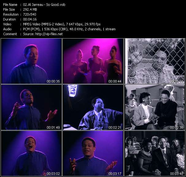 Screenshot of Music Video Al Jarreau - So Good