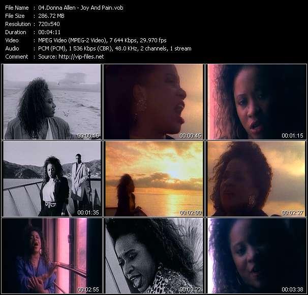 Screenshot of Music Video Donna Allen - Joy And Pain
