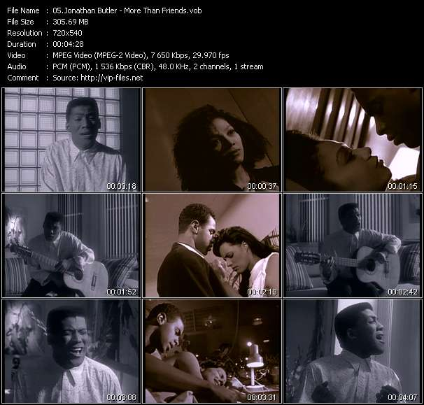Screenshot of Music Video Jonathan Butler - More Than Friends