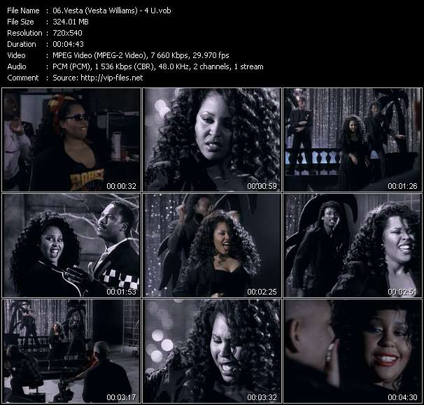 Screenshot of Music Video Vesta (Vesta Williams) - 4 U
