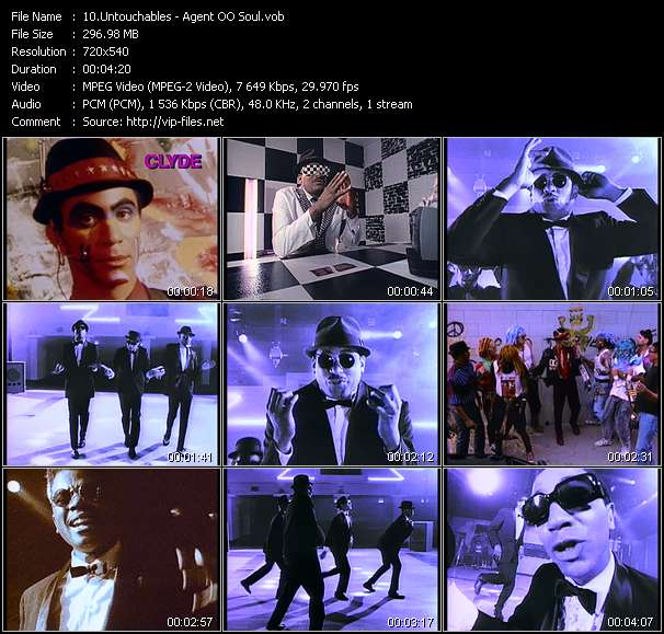 Screenshot of Music Video Untouchables - Agent OO Soul