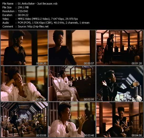 Screenshot of Music Video Anita Baker - Just Because