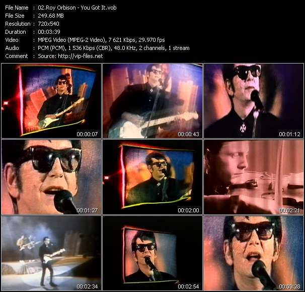 Screenshot of Music Video Roy Orbison - You Got It