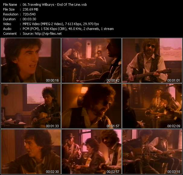 Screenshot of Music Video Traveling Wilburys - End Of The Line