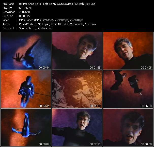 Screenshot of Music Video Pet Shop Boys - Left To My Own Devices (12 Inch Mix)