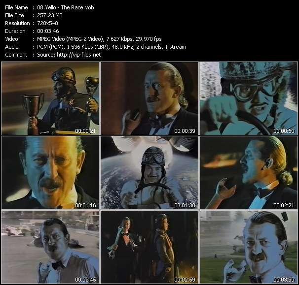 Screenshot of Music Video Yello - The Race