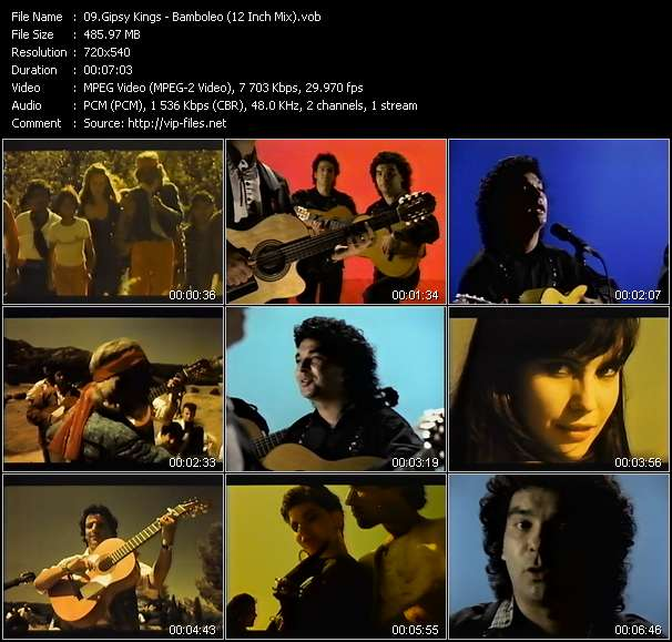 Screenshot of Music Video Gipsy Kings - Bamboleo (12 Inch Mix)