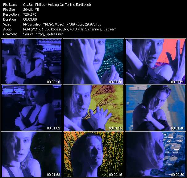 Screenshot of Music Video Sam Phillips - Holding On To The Earth