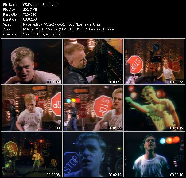 Screenshot of Music Video Erasure - Stop!