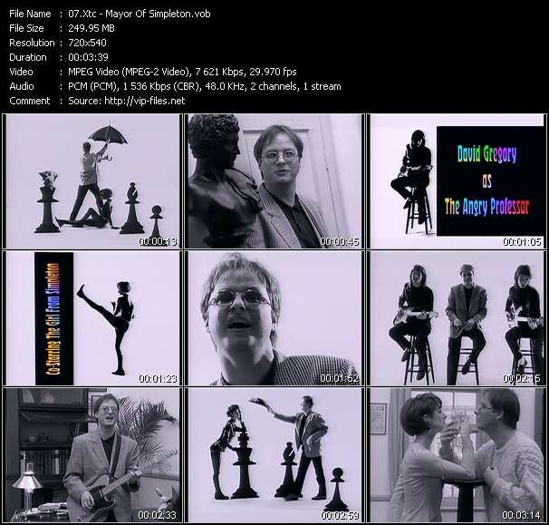 Screenshot of Music Video Xtc - Mayor Of Simpleton