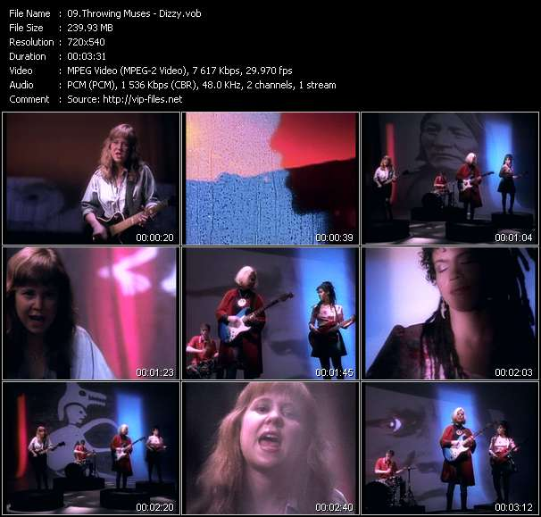 Screenshot of Music Video Throwing Muses - Dizzy