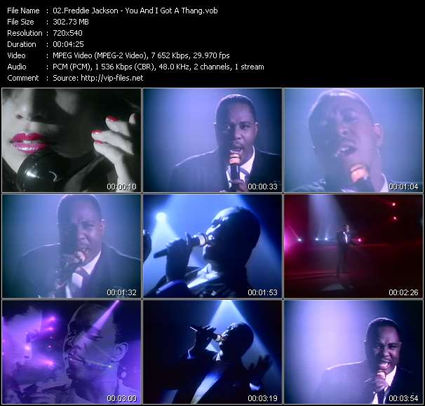 Screenshot of Music Video Freddie Jackson - You And I Got A Thang