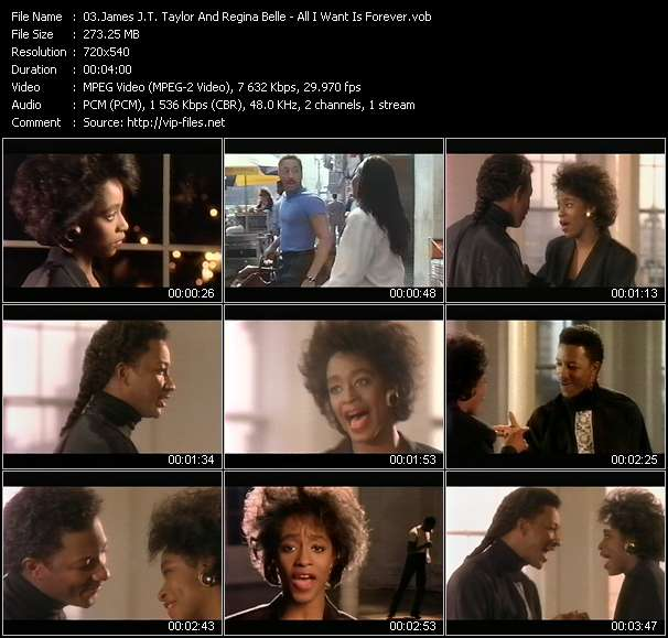 Screenshot of Music Video James J.T. Taylor And Regina Belle - All I Want Is Forever
