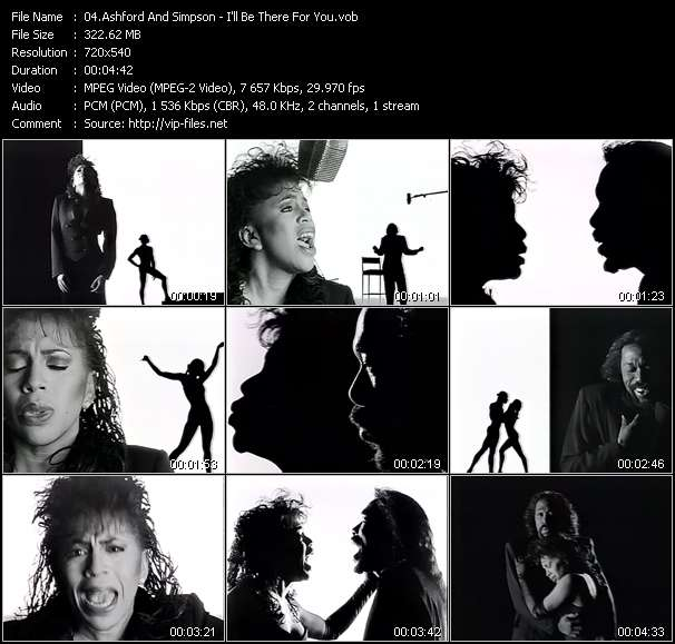 Screenshot of Music Video Ashford And Simpson - I'll Be There For You