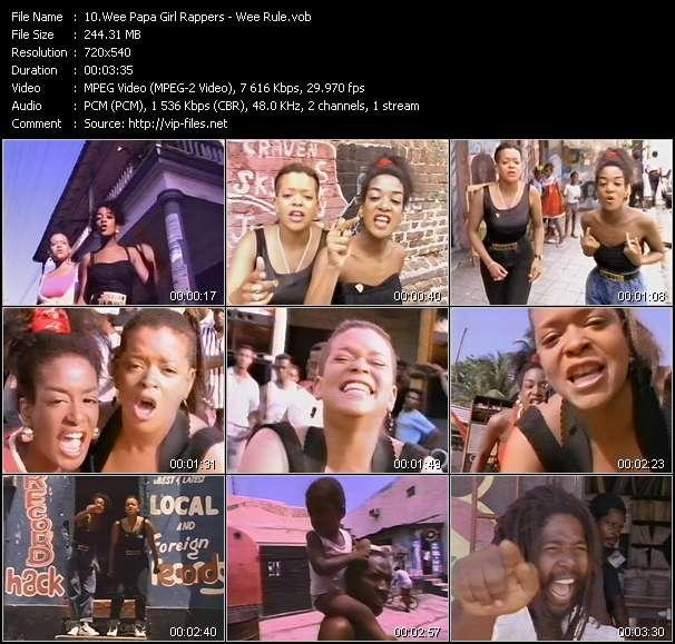 Screenshot of Music Video Wee Papa Girl Rappers - Wee Rule