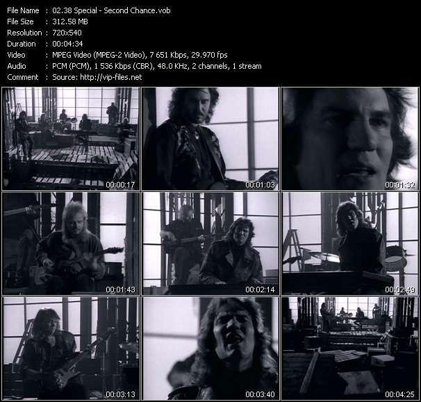 Screenshot of Music Video 38 Special - Second Chance