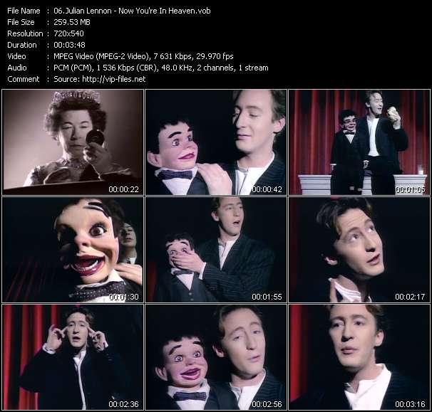 Screenshot of Music Video Julian Lennon - Now You're In Heaven