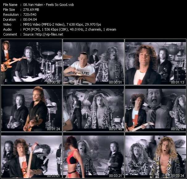 Screenshot of Music Video Van Halen - Feels So Good
