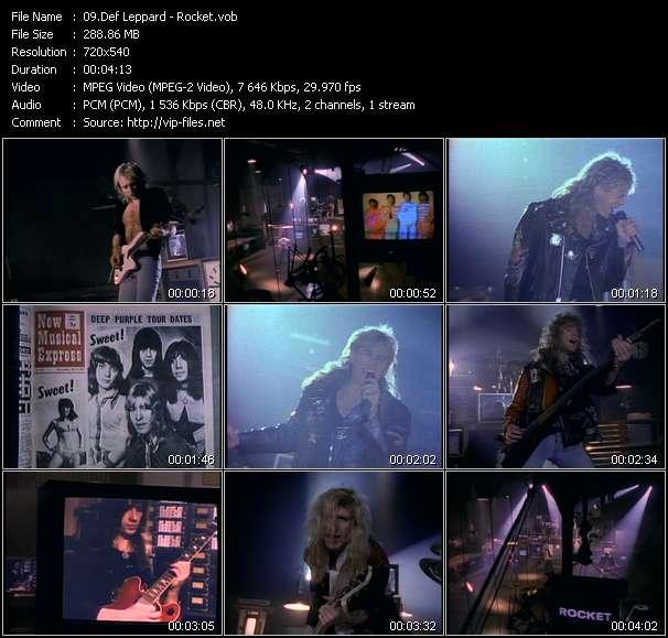 Screenshot of Music Video Def Leppard - Rocket