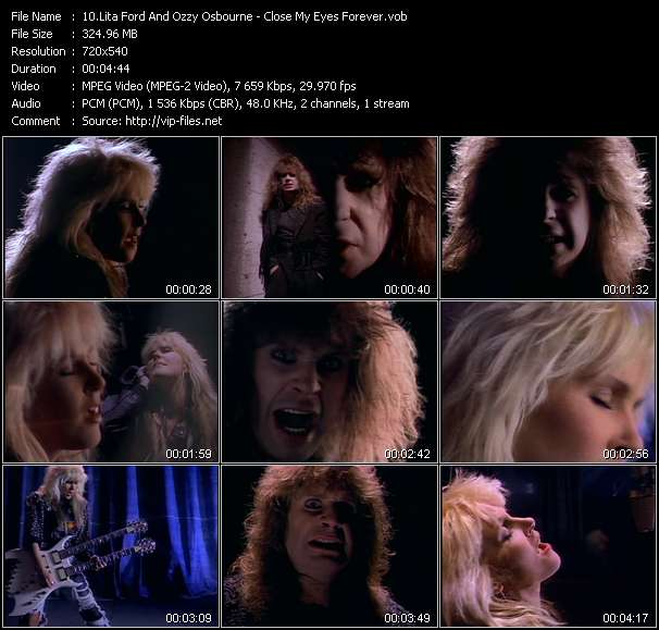 Screenshot of Music Video Lita Ford And Ozzy Osbourne - Close My Eyes Forever