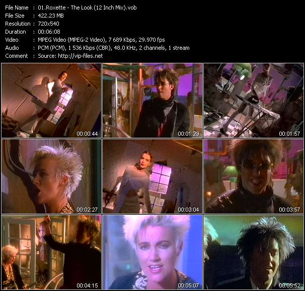 Screenshot of Music Video Roxette - The Look (12 Inch Mix)