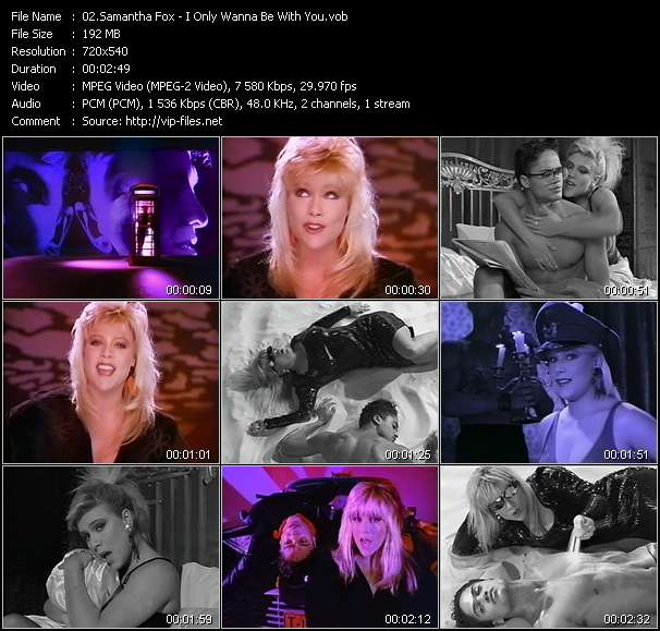 Screenshot of Music Video Samantha Fox - I Only Wanna Be With You