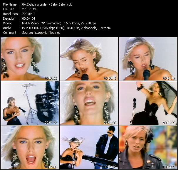 Screenshot of Music Video Eighth Wonder - Baby Baby