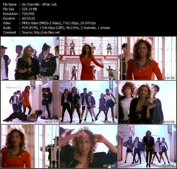 Screenshot of Music Video Cherrelle - Affair