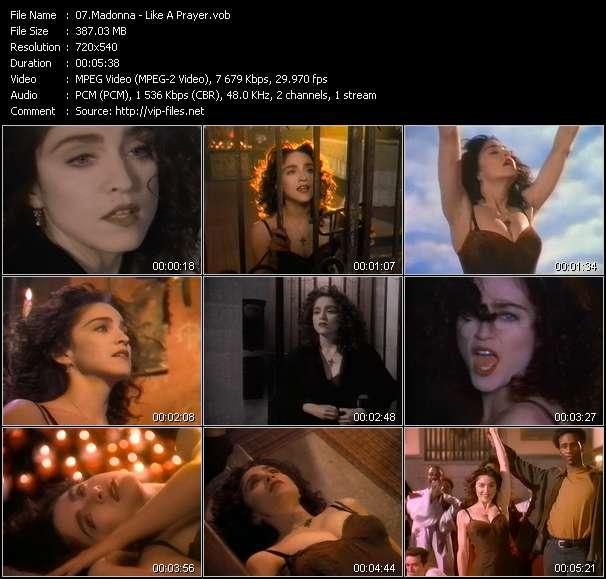 Screenshot of Music Video Madonna - Like A Prayer