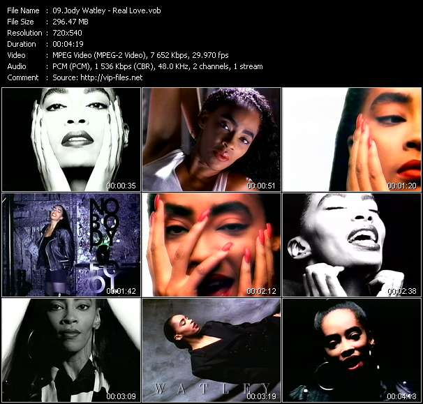 Screenshot of Music Video Jody Watley - Real Love