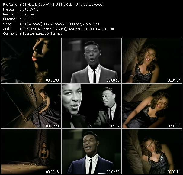Screenshot of Music Video Natalie Cole With Nat King Cole - Unforgettable