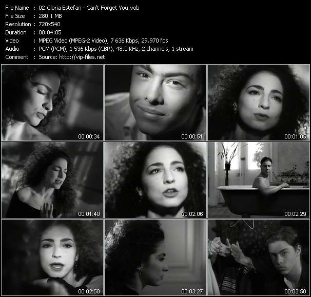 Screenshot of Music Video Gloria Estefan - Can't Forget You